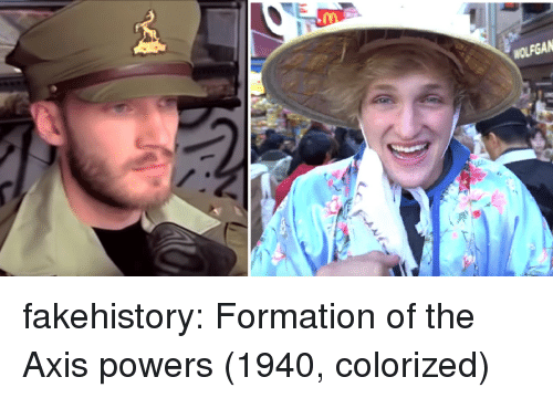axis powers: fakehistory:  Formation of the Axis powers (1940, colorized)