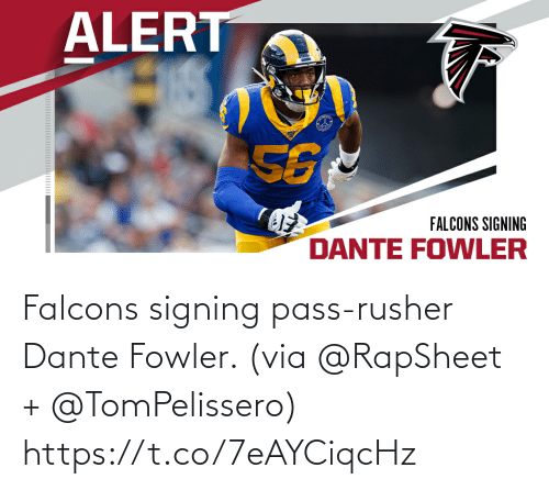 Signing: Falcons signing pass-rusher Dante Fowler. (via @RapSheet + @TomPelissero) https://t.co/7eAYCiqcHz
