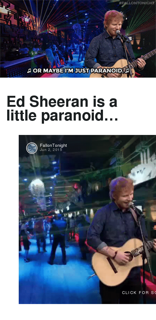 "utf-8:  #FALLONTONIGHT  JOR MAYBE I'M JUST PARANOID <h2>Ed Sheeran is a little paranoid…</h2><figure class=""tmblr-embed tmblr-full"" data-provider=""vine"" data-orig-width=""540"" data-orig-height=""540"" data-url=""https%3A%2F%2Fvine.co%2Fv%2FehFYaTjpeYX""><iframe class=""vine-embed"" src=""https://vine.co/v/ehFYaTjpeYX/embed/simple"" width=""540"" height=""540"" frameborder=""0""></iframe><script async="""" src=""//platform.vine.co/static/scripts/embed.js"" charset=""utf-8""></script></figure>"