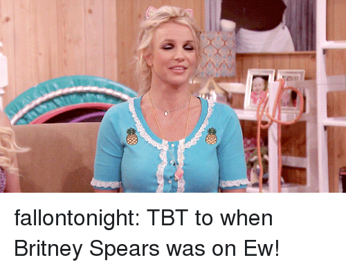 Britney Spears, Target, and Tbt: fallontonight:  TBT to when Britney Spears was on Ew!