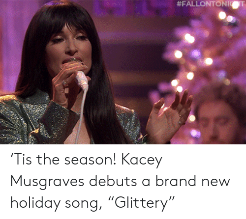 "Target, Youtu, and Blank: 'Tis the season! Kacey Musgraves debuts a brand new holiday song, ""Glittery"""