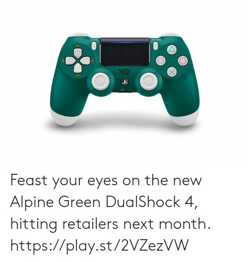 feast: Feast your eyes on the new Alpine Green DualShock 4, hitting retailers next month. https://play.st/2VZezVW