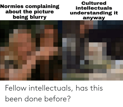 done: Fellow intellectuals, has this been done before?