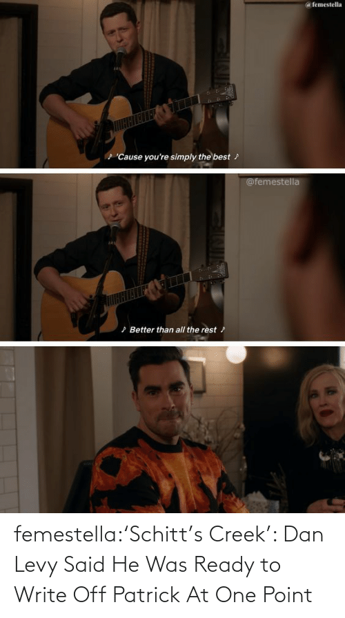 levy: femestella:'Schitt's Creek': Dan Levy Said He Was Ready to Write Off Patrick At One Point