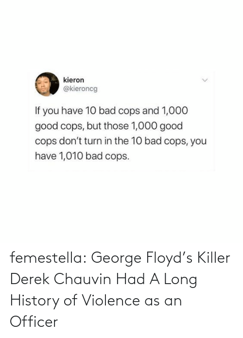 Long: femestella: George Floyd's Killer Derek Chauvin Had A Long History of Violence as an Officer