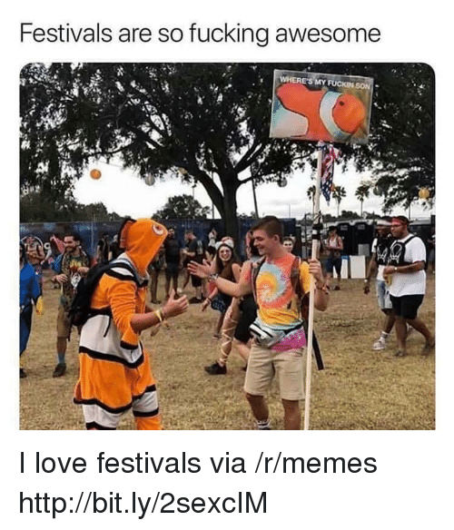 fucking awesome: Festivals are so fucking awesome  24 I love festivals via /r/memes http://bit.ly/2sexcIM