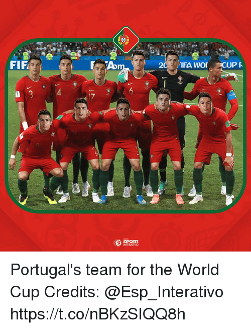 Memes, World Cup, and World: FIF  IFA WO  CUPA  INTERATIVO Portugal's team for the World Cup  Credits: @Esp_Interativo https://t.co/nBKzSIQQ8h