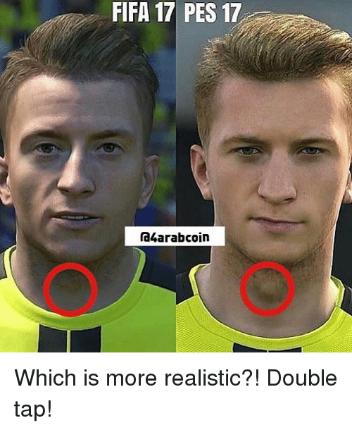 Fifa 17: FIFA 17 PES 17  ra4arabcoin Which is more realistic?! Double tap!