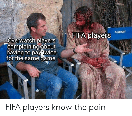 Fifa, Game, and Pain: FIFA players  PANALIGHT  Overwatch players  complaining about  having to pay twice  for the same game FIFA players know the pain