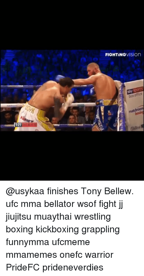Boxing, Memes, and Ufc: FIGHTINGVİSion  box office  1:21 @usykaa finishes Tony Bellew. ufc mma bellator wsof fight jj jiujitsu muaythai wrestling boxing kickboxing grappling funnymma ufcmeme mmamemes onefc warrior PrideFC prideneverdies