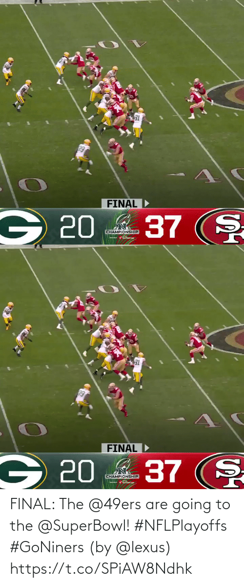 San Francisco 49ers: FINAL: The @49ers are going to the @SuperBowl! #NFLPlayoffs #GoNiners  (by @lexus) https://t.co/SPiAW8Ndhk