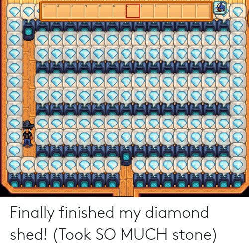 shed: Finally finished my diamond shed! (Took SO MUCH stone)