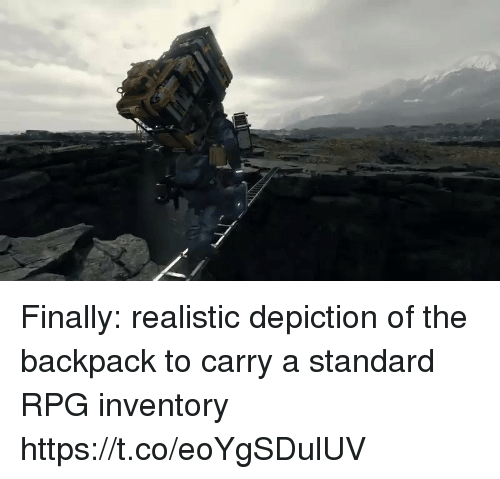 Rpg, Inventory, and Finally: Finally: realistic depiction of the backpack to carry a standard RPG inventory https://t.co/eoYgSDulUV