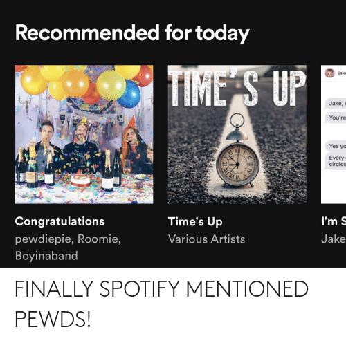 finally: FINALLY SPOTIFY MENTIONED PEWDS!