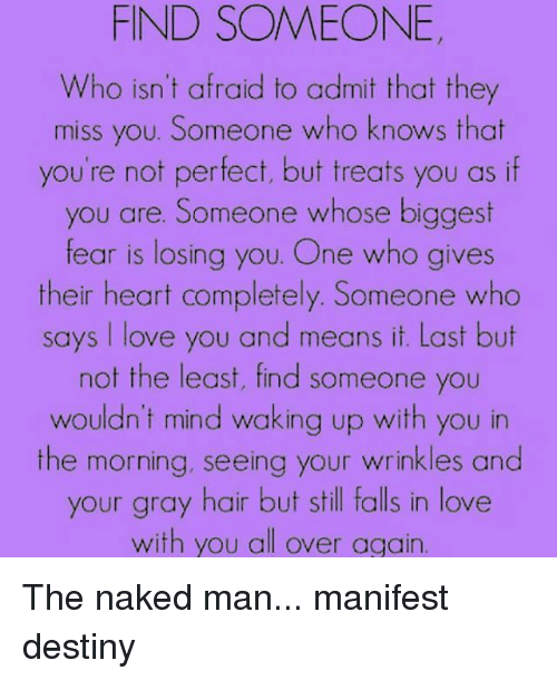 Find someone you know naked