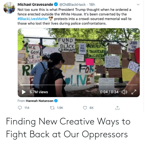 Back: Finding New Creative Ways to Fight Back at Our Oppressors