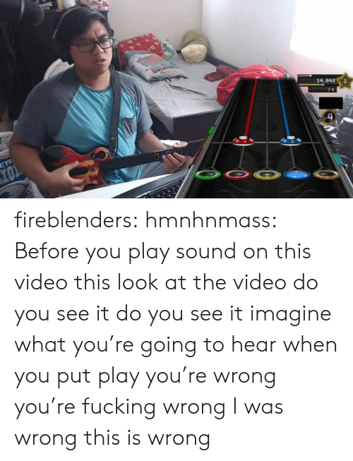 Do You See It: fireblenders: hmnhnmass: Before you play sound on this video this look at the video do you see it do you see it imagine what you're going to hear when you put play you're wrong you're fucking wrong I was wrong this is wrong