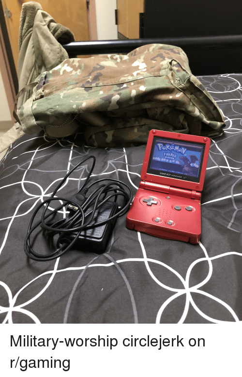 Game, Military, and Circlejerk: FIRERED  NERSION  GAME BOY ADVANCE SP