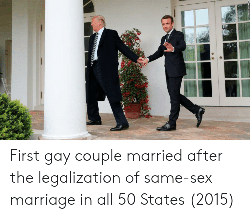 Marriage, Sex, and All 50 States: First gay couple married after the legalization of same-sex marriage in all 50 States (2015)