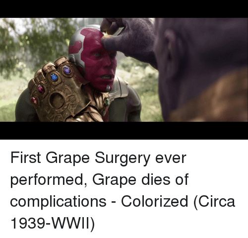 Wwii, First, and Surgery: First Grape Surgery ever performed, Grape dies of complications - Colorized (Circa 1939-WWII)