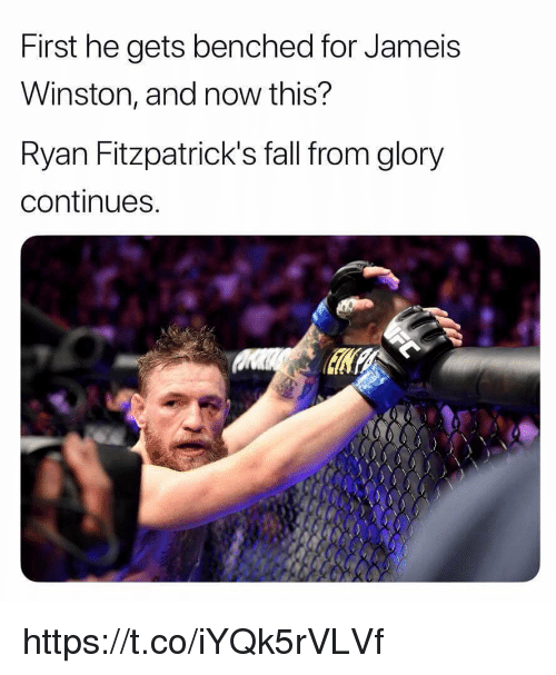 jameis winston: First he gets benched for Jameis  Winston, and now this?  Ryan Fitzpatrick's fall from glory  continues https://t.co/iYQk5rVLVf