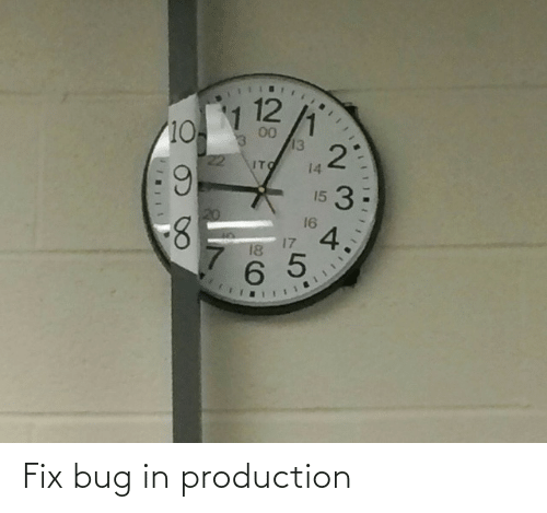 Production: Fix bug in production