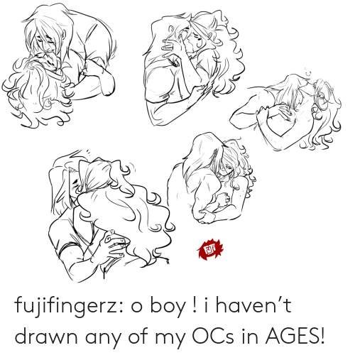 O Boy: FJi fujifingerz:  o boy ! i haven't drawn any of my OCs in AGES!