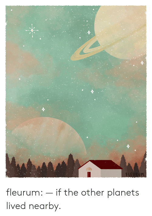 Target, Tumblr, and Blog: FLEURUM. fleurum:  — if the other planets lived nearby.