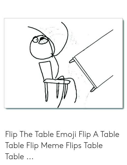 Best Memes About Flip The Table Emoji