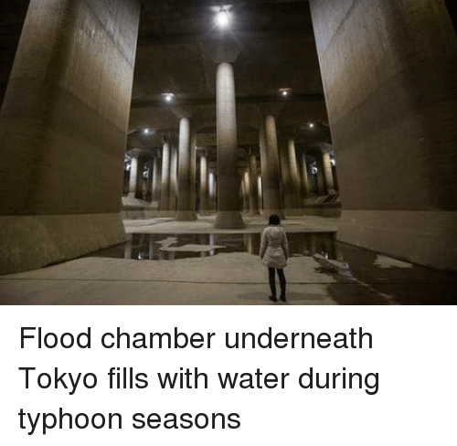 Flood: Flood chamber underneath Tokyo fills with water during typhoon seasons