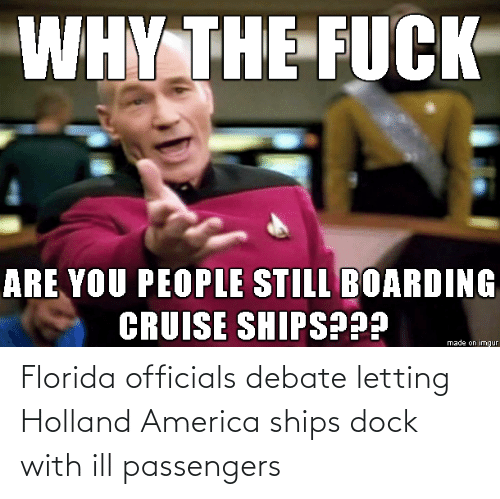 Passengers: Florida officials debate letting Holland America ships dock with ill passengers