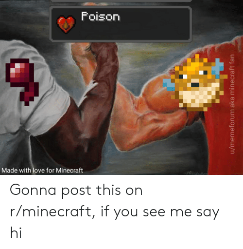 Love, Minecraft, and Reddit: Foison  Made with love for Minecraft Gonna post this on r/minecraft, if you see me say hi