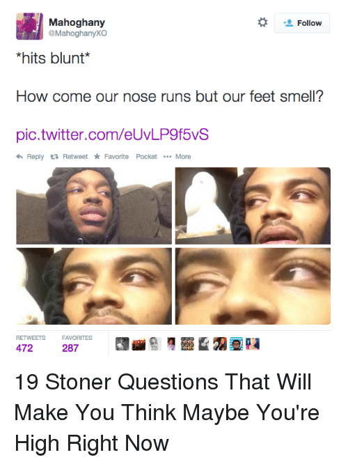 Questions That Make You Think >> 25 Best Memes About Stoner Questions Stoner