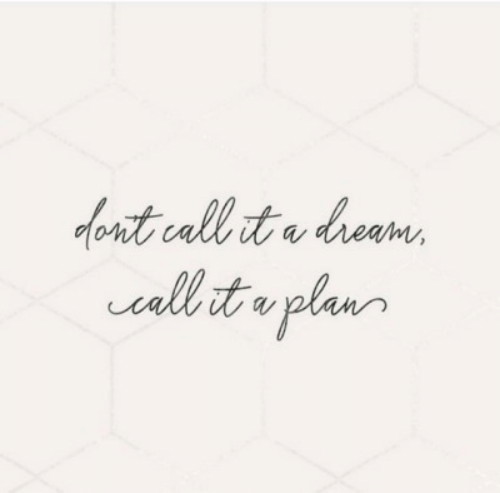 A Dream, Dream, and Call: font call it a dream  vallb it o plan  plur