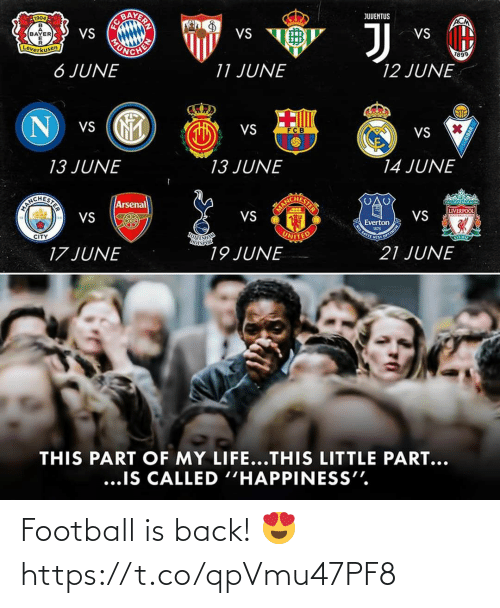 Football: Football is back! 😍 https://t.co/qpVmu47PF8