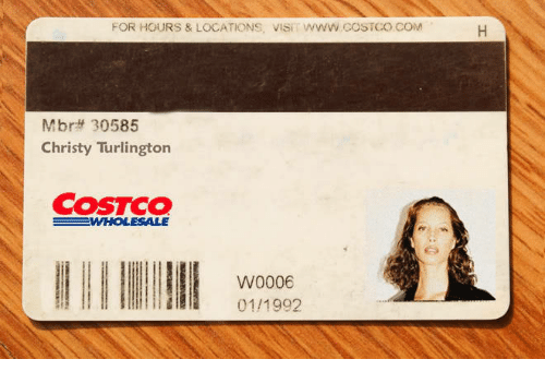 Costco: FOR HOURS & LOCATIONS, VISIT WWW COSTCO COM  Mbrtt 30585  Christy Turlington  COSTCO  W0006  01/1992
