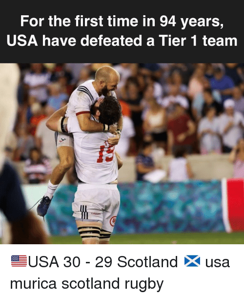 Scotland, Time, and Rugby: For the first time in 94 years,  USA have defeated a Tier 1 team 🇺🇸USA 30 - 29 Scotland 🏴󠁧󠁢󠁳󠁣󠁴󠁿 usa murica scotland rugby