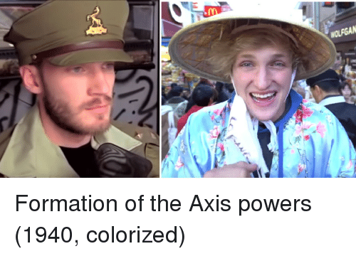 axis powers: Formation of the Axis powers (1940, colorized)
