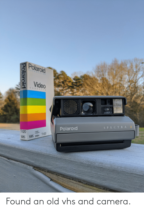 vhs: Found an old vhs and camera.