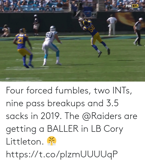 Raiders: Four forced fumbles, two INTs, nine pass breakups and 3.5 sacks in 2019.  The @Raiders are getting a BALLER in LB Cory Littleton. 😤 https://t.co/pIzmUUUUqP