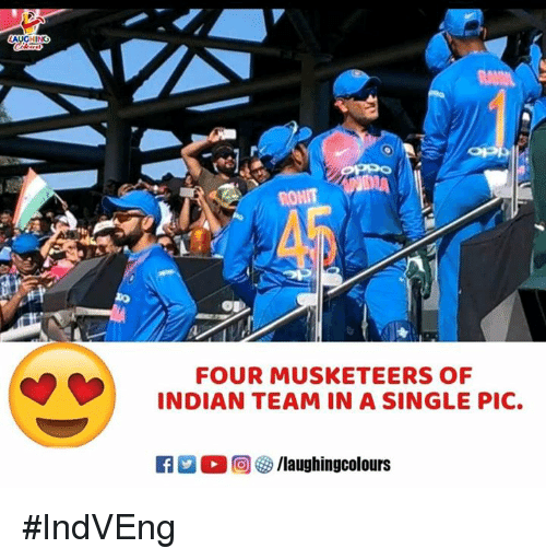 Indian, Indianpeoplefacebook, and Single: FOUR MUSKETEERS OF  INDIAN TEAM IN A SINGLE PIC. #IndVEng