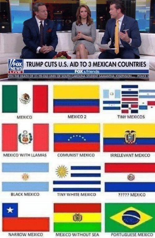 Black, Mexico, and Trump: FOX TRUMP CUTS U.S. AID TO 3 MEXICAN COUNTRIES  MEXICO  MEXICO 2  TINY MEXICOs  MEXICO WITH LLAMAS  COMUNİST MEXICO  IRRELEVANT MEXICO  BLACK MEXICO  INY WHITE MEXICO  777 MEXICO  NARROW MEXICO  MEXICO WITHOUT SEA  PORTUGUESE MEXICO