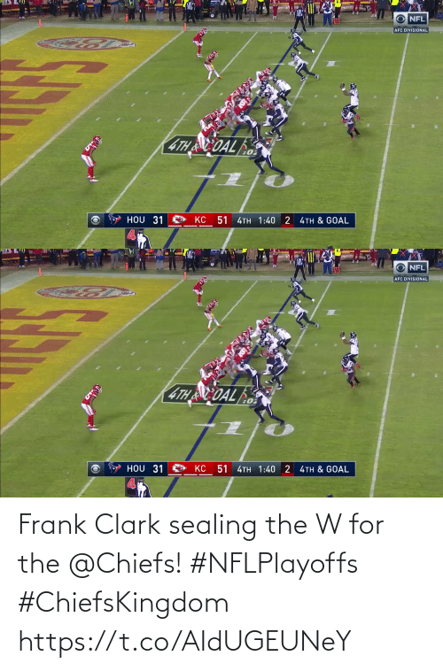 For The: Frank Clark sealing the W for the @Chiefs! #NFLPlayoffs #ChiefsKingdom https://t.co/AIdUGEUNeY