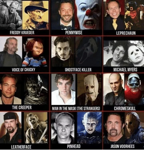 FREDDY KRUEGER VOICE OF CHUCKY THE CREEPER LEATHER FACE PENNYWISE