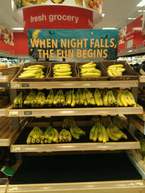 Fresh, Fun, and  Night: fresh grocery  WHEN NIGHT FALLS  THE FUN BEGINS