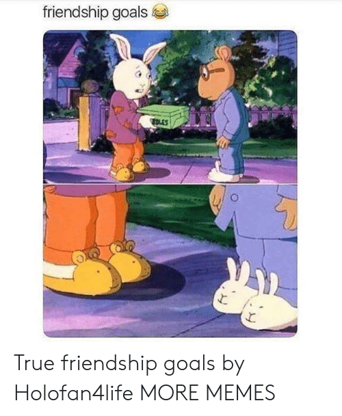 Friendship Goals: friendship goals True friendship goals by Holofan4life MORE MEMES
