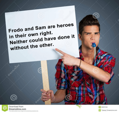 Heroes, Image, and Com: Frodo and Sam are heroes  in their own right.  Neither could have done it  without the other.  Download from  Dreamstime.com  This watermarked comp image is for previewing purposes only  D 3033742  Tijanap | Dreamstime.com