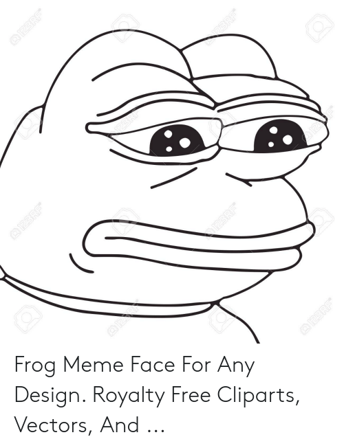 Any Design: Frog Meme Face For Any Design. Royalty Free Cliparts, Vectors, And ...