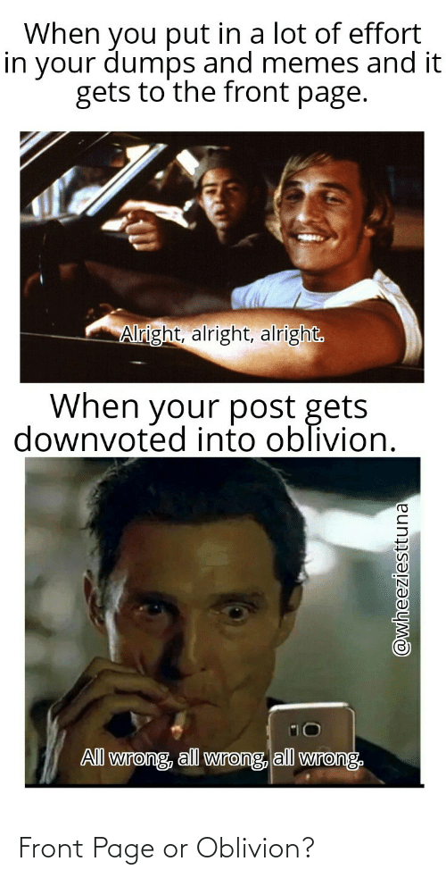Front: Front Page or Oblivion?