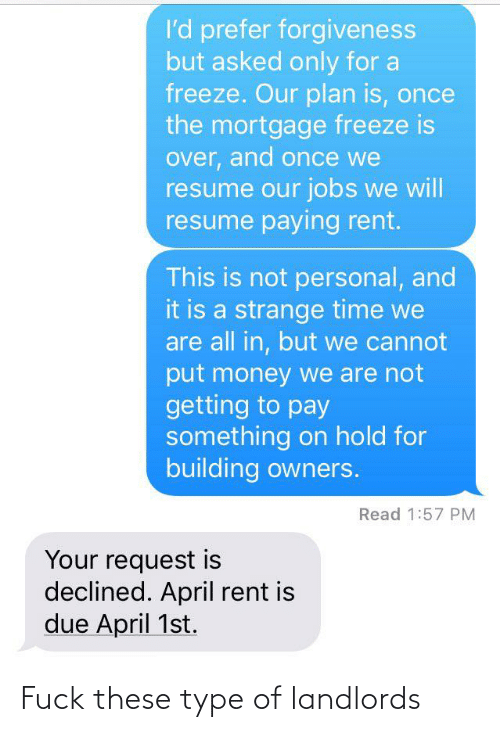 type: Fuck these type of landlords